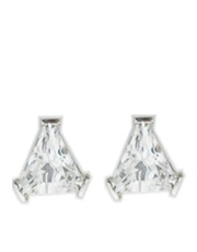 Triangle Stud CZ Earrings Jewellery