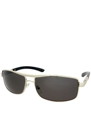 Royale Style 1 Sunglasses, Silver Frame / Smoke Lens