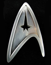 Star Trek Prop Replica, Captain Kirk Starfleet Command Division Badge