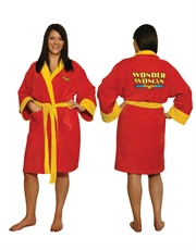 Wonder Woman Bathrobe, Womens Wonder Woman Bathrobe, Cotton Red