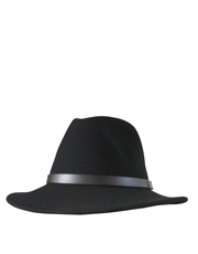 Safari Crushable Black Hat