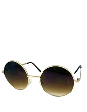 Teashade Sunglasses, Teashade Round Gold Brown Gradient LARGE Style 13