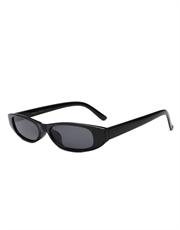 Blade Style Sunglasses, Black Frame / Smoke Lens