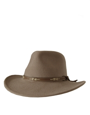Outback Crushable, Wool Felt Hat, Putty