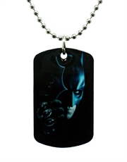 Batman Dark Knight Batarang Dog Tag Necklace