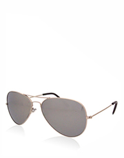 Knight Day Style 2 Sunglasses, Silver Frame / Full Mirrow Lens