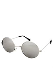 Teashade Sunglasses, Teashade Round Style 2 Silver Frame / Full Mirror Lens