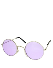 Teashade Sunglasses, Teashade Round Style 10, Silver Frame / Purple Lens