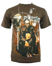 Punisher T-Shirt, Punisher Squat Pose Dark Brown