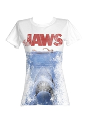 Jaws T-Shirt, Jaws Womens T-Shirt, Jaws Attack White