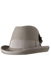 Godfather Wool Felt Hat, Light Grey