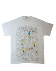 Simpsons T-Shirt, Simpsons Group Shot White