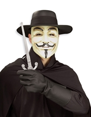 V For Vendetta Costume Accessory, Mens V For Vendetta Costume Kit