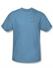 Star Trek T-Shirt, Star Trek Spock Science Officer Light Blue