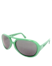 Elvis Sunglasses, Elvis Neon Green Smoke Mirrow Style 5