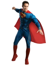 Man Of Steel Costume, Mens Superman Muscle Costume Style 2