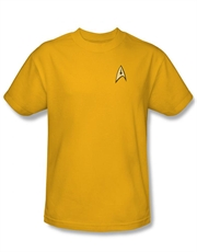 Star Trek T-Shirt, Star Trek Captain Kirk Yellow