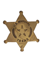 Western Cowboy US Marshal Texas Badge