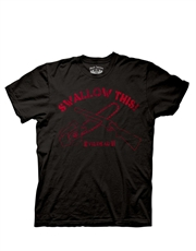 Army Of Darkness T-Shirt, Army Of Darkness Swallow This Chainsaw Black