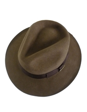 Indiana Jones Hat, Mens Indiana Jones Hat, Fur Felt Fedora Brown