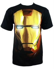 Iron Man T-Shirt, Iron Man Face Black