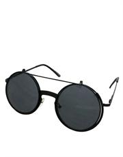 Teashade Sunglasses, Flip Large Style 22, Black Frame / Smoke Lens