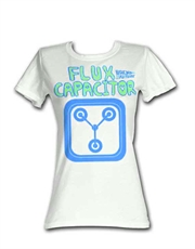 Back To The Future T-Shirt, Back To The Future Womens T-Shirt, Flux Capacitor White