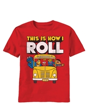 Sesame Street T-Shirt, Sesame Street How I Roll Red