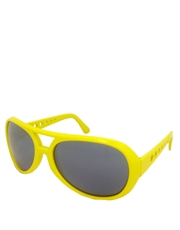 Elvis Sunglasses, Elvis Neon Yellow Smoke Mirrow Style 5