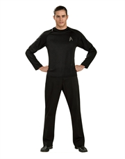 Star Trek Movie Costume, Mens Kirk Black Costume Top