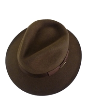 Indiana Jones Hat, Mens Officially Licensed Wool Felt Fedora Brown