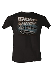Back To The Future T-Shirt, Back To The Future Time Machine Black