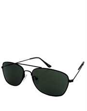 Soprano Style Miltary Sunglasses, Black Frame / Smoke Lens