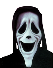 Scary Movie Costume Accessory, Mens Ghost Face Smiley Mask