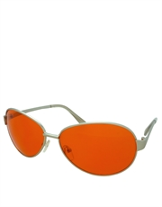 Tyler Style 2 Sunglasses, Sunset Aviators, Orange Lens / Chrome Frame
