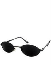 Oceans Garcia Style Sunglasses, Black Frame / Smoke Lens
