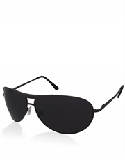 Wayne Dark Knight Style Sunglasses, Gunmetal Frame / Smoke Mirror Lens