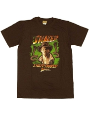 Indiana Jones T-Shirt, Indiana Jones Snakes Brown