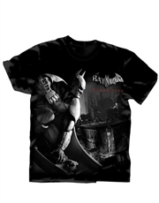 Batman T-Shirt, Batman Avenge Over City Black