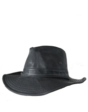 Outback Weathered Hat, Black