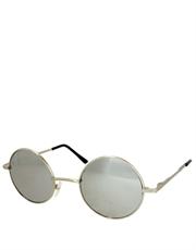 Teashade Sunglasses, Teashade Round Style 9, Silver Frame / Full Mirror Lens