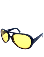 Elvis Sunglasses, Elvis Black Yellow Style 6
