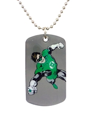 Green Lantern Power Dog Tag Necklace
