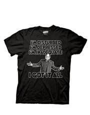 Seinfeld T-Shirt, Seinfeld Disturbed Depressed Inadequate Black