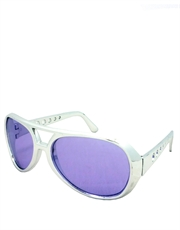 Elvis Sunglasses, Elvis Chrome Purple Style 4