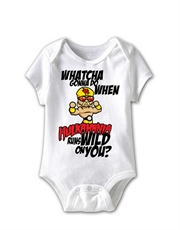 WWE Bodysuit, WWE Baby Bodysuit, Hulk Hogan Whatcha Gonna Do White