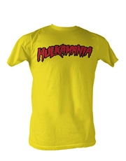 WWE T-Shirt, WWE Hulk Hogan Hulkamania Yellow