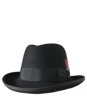 Godfather Wool Felt Hat, Black