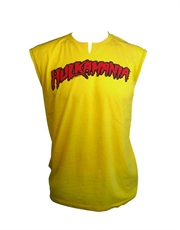 WWE T-Shirt, WWE Hulk Hogan Hulkamania Muscle Yellow