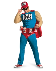 Simpsons Costume, Mens Duffman Muscle Costume